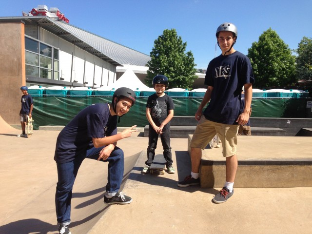 YES skateboard volunteers