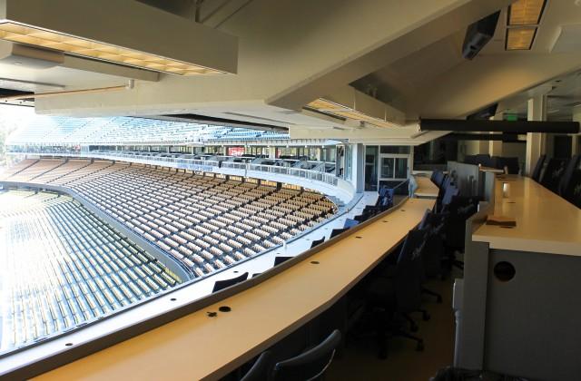 Vin Scully Press Box Dodgers Tour
