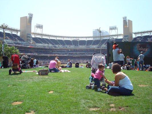 Petco Park grass