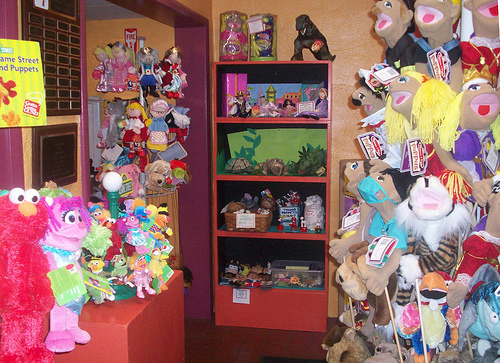 Puppet theater gift shop