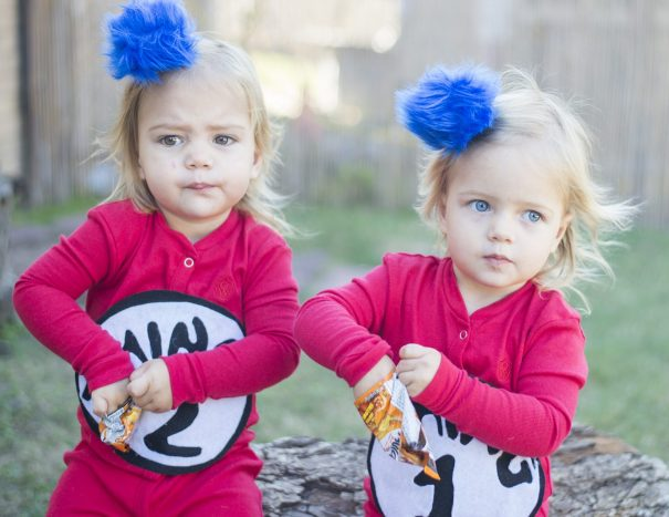 think 2 and thing 1 halloween