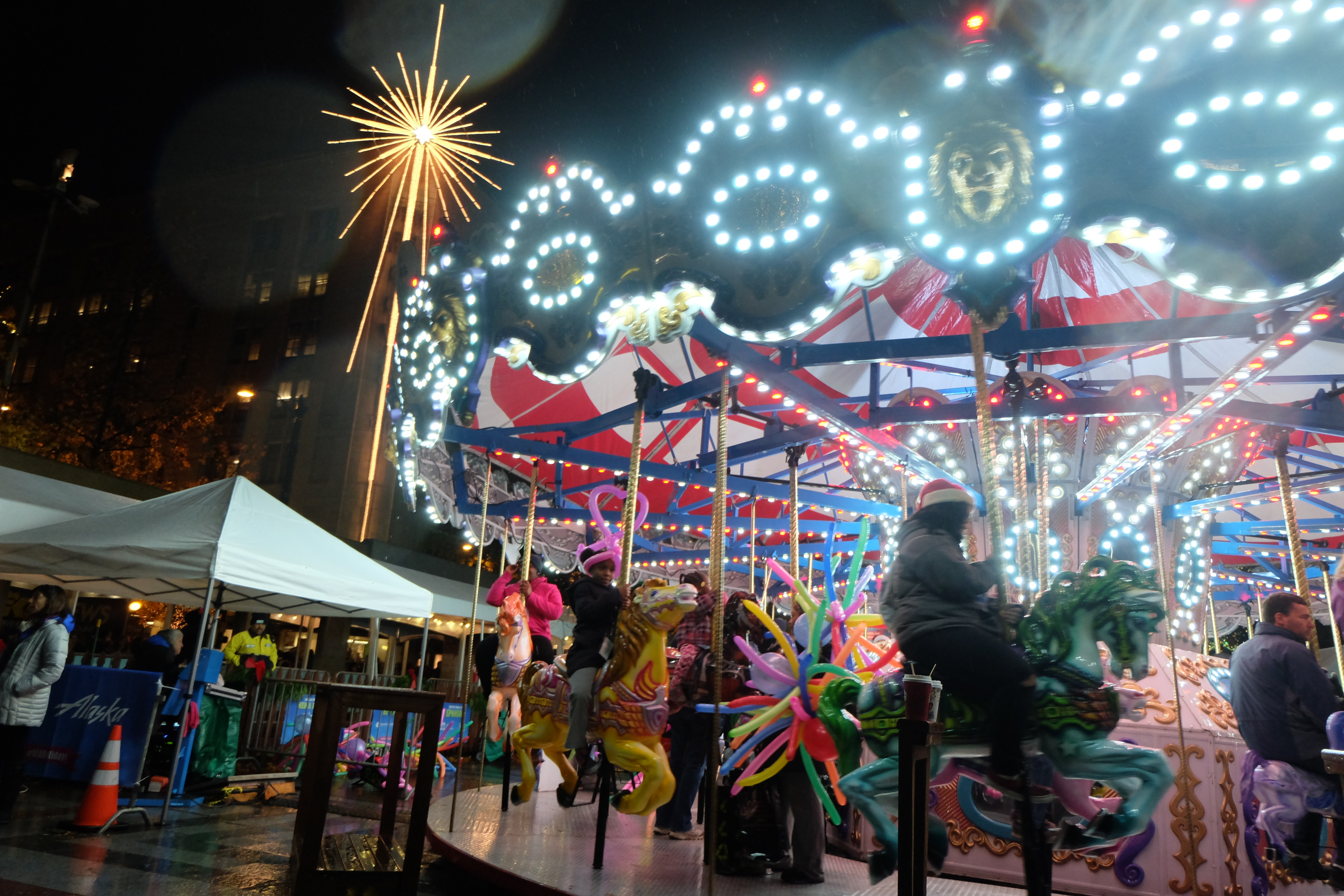 The whirling tradition of the Holiday Carousel returns on Friday, November 27 at Westlake Park. Kids of all ages are welcome to take a spin, with a suggested donation of three dollars. Proceeds benefit the work of Treehouse, providing foster kids a childhood and a future. Hours of operation: Monday-Thursday: 11 a.m. - 9 p.m. Friday: 11 a.m. - 10 p.m. Saturday: 10 a.m. - 10 p.m. Sunday: 10 a.m. - 9 p.m. Special Hours: Nov. 27: 10 a.m. - 10 p.m. Dec. 13: 8 a.m. - 9 p.m. Dec. 24: 10 a.m. - 5 p.m. Dec. 25: CLOSED Dec. 31: 10 a.m. - 5 p.m. Jan. 1: 10 a.m. - 2 p.m.