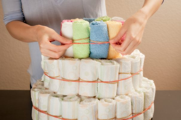 baby shower diaper cake -cc- Personal Creations via Flickr
