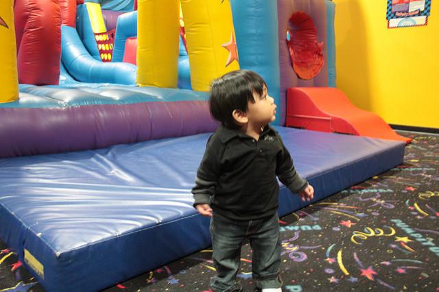 pump it up san diego, bouncy house kid