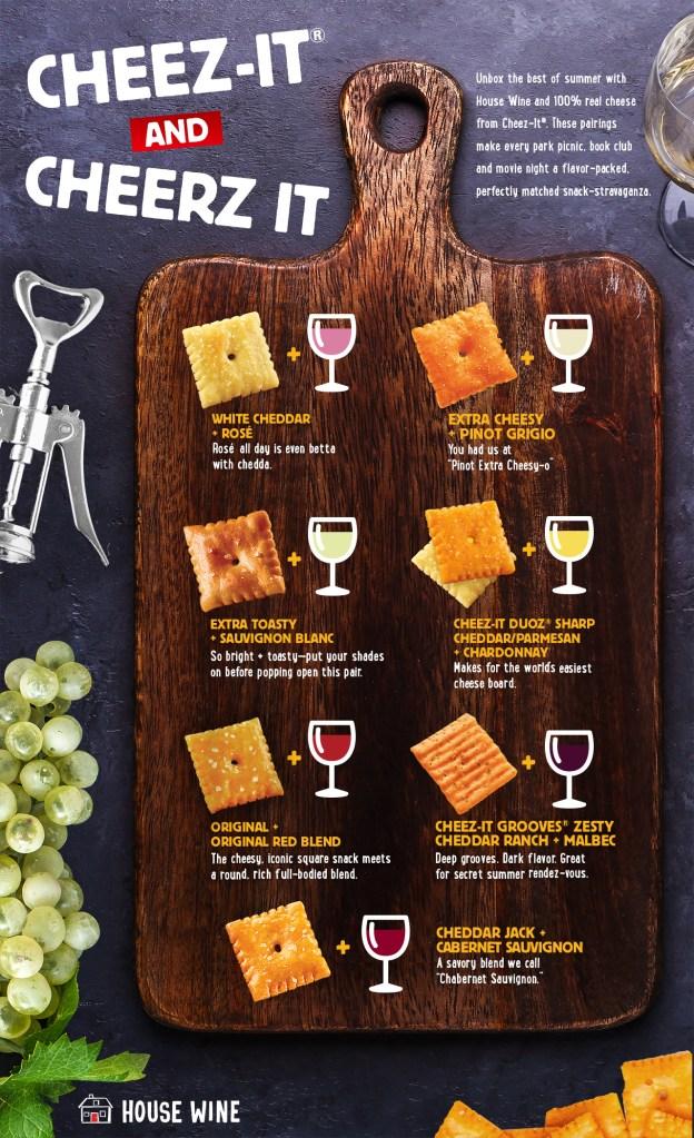 Cheez-It and Wine box