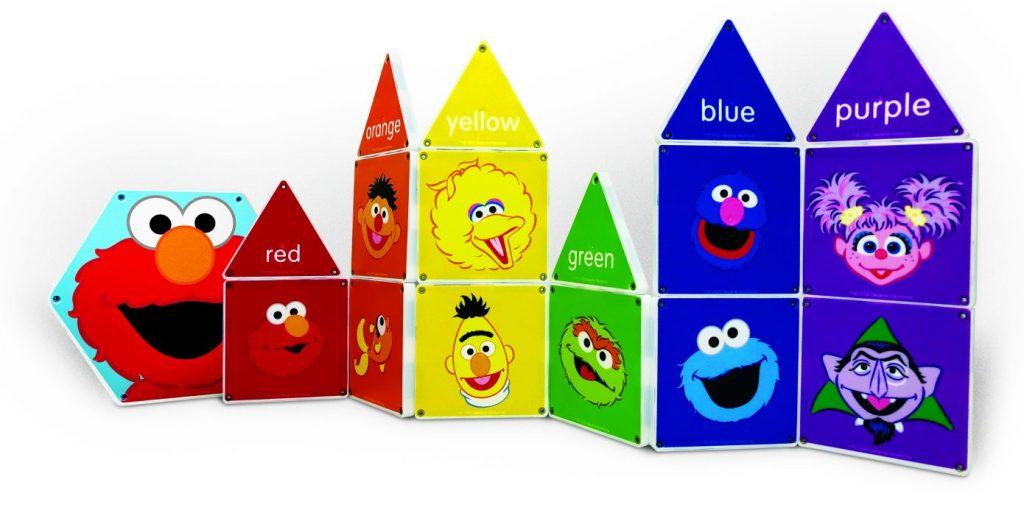 Color with Elmo Magna-tiles