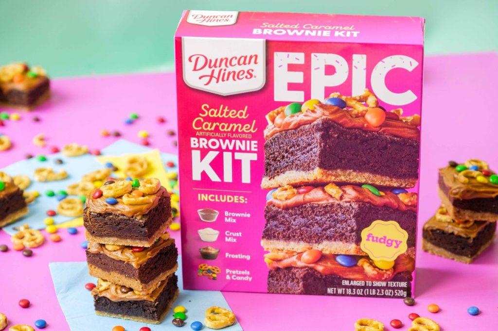 Epic Salted Caramel Pretzel Brownies